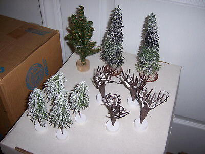 Lot of trees with snow - used with Dept 56 Dickens Village Christmas