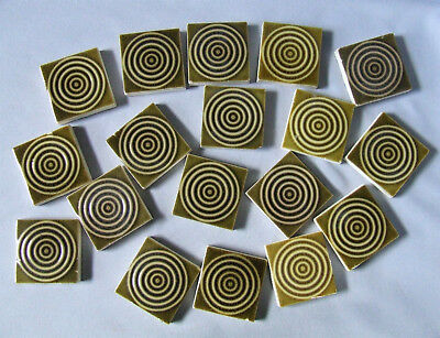 18 Victorian American Tiles Green Concentric Circles Trent AETCO Providential