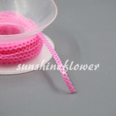 1 Pc Dental Continuous Orthodontics Elastic Ultra Power Chain Rubber Bands Pink