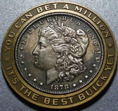 """1878-S ENCASED """"MORGAN"""" SILVER DOLLAR From BUICK, Better SAN FRANCISCO MINT Date"""