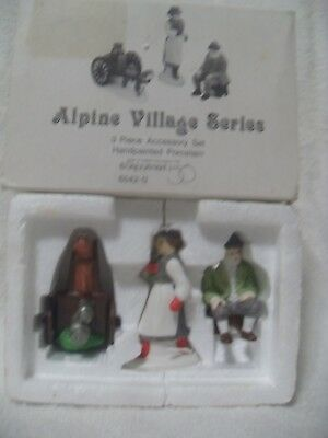 Dept 56 ALPINE VILLAGERS  Set of 3 - Alpine Village Series   #65420