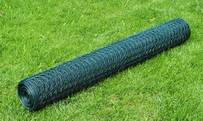 vidaXL 1x25m Galvanised Wire Netting Mesh Pet Poultry Fencing Chicken Coop 36mm