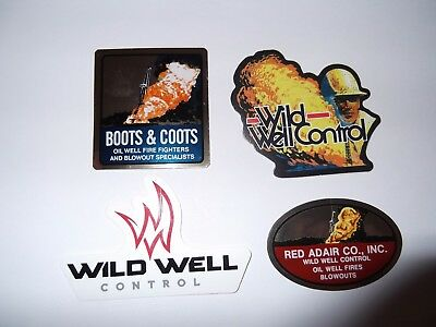 Oilfield Rig Boots Coots Red Adair Wild Well Control and  crane hardhat sticker