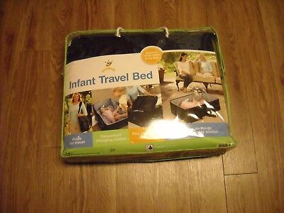 "Goldbug Navy Blue Infant Travel Bed ""The ON-THE-GO sleep and play solution"""