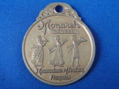 "Vintage Advertising MONARCH MALLEABLE IRON RANGES 1896 ""3 Generations"" Fob Token"