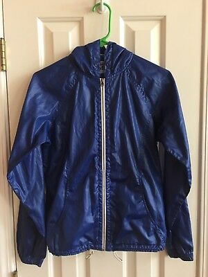 Vintage CONVERSE Full Zip Hooded Jacket Size Small Blue