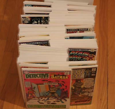 Huge Lot of 125 Marvel and DC Comic Books Silver Bronze Age Only! Full Short Box