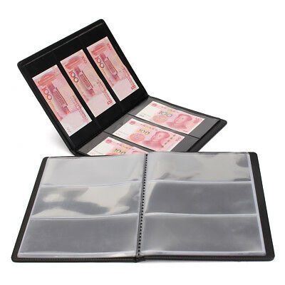 60 Pockets Collect Collection Pockets Leather Album Paper Money Holders Storage