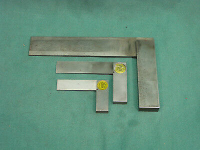 Three Precision Steel Squares - Starrett & General