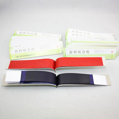Dental Articulating Paper Practical Soft Thin Strips Red/ Blue 10 Sheet *20 Book