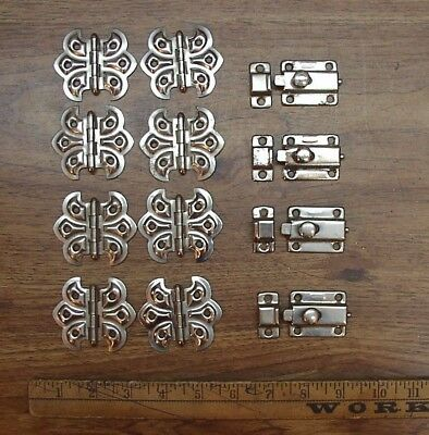 "8 Matching Butterfly Hinges,2-3/8"" Wide X 2-1/8"" Tall,W/4 Spring Latches"