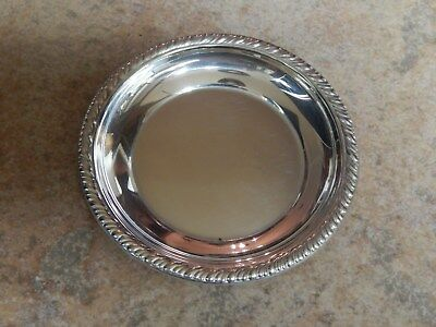 Vtg Dunkink  Sterling Silver Round Pin Tray , Dish #3