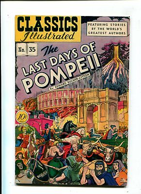 Classics Illustrated #35 VF- 8.5 HIGH GRADE Golden Age 10c VINTAGE Pompeii