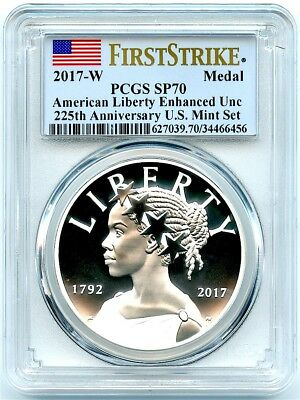 2017-W Enhanced Uncirculated Silver Liberty Medal, PCGS SP-70 First Strike!