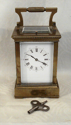 Antique French Gilded 8 Day Repeater Carriage Clock Runs Needs Serviced