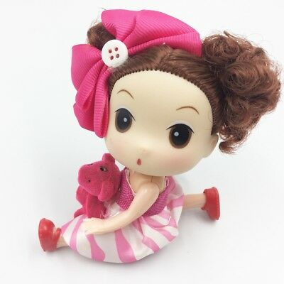 10cm Women Dress Mini Lifelike Baby Girl Vinyl Dolls Keychain Car Key Chain Ring
