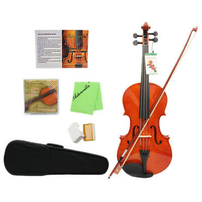 Maple Wood Viola in Case w/ Strings Rosin Shoulder Rest Pad for Music Lovers