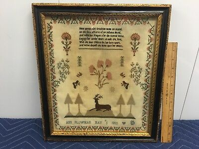 EARLY 19TH CENTURY SAMPLER BY Ann Plowman May 5th  - 1803