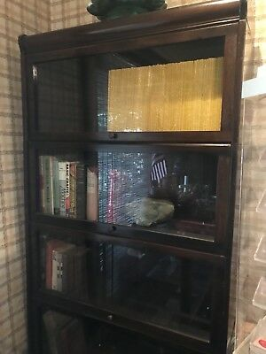 Antique Lundstrom 5 Stacking Lawyer / Barrister Bookcase 1920's One Owner