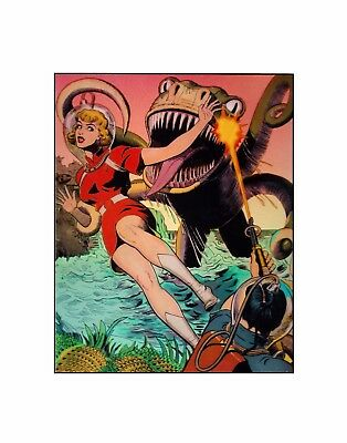 Planet comics sea monster  Fiction House Golden age science fiction sericel