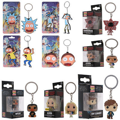 Funko Pocket Pop! Keychain Strang things,Rick and Morty Vinyl Figure Keyring