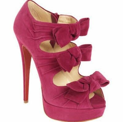 Christian Louboutin Madame Butterfly Suede Booties 38.5