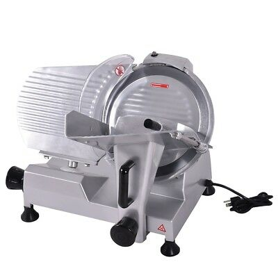 """Electric Commercial Butcher Deli Meat Cheese Bread Slicer 12"""" Blade Saw Machine"""