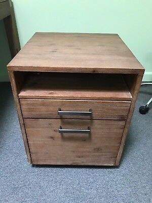 2 Drawer Filing Cabinet Silverwood