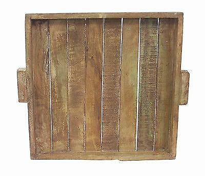 Elegant and bold Tray Old Home Decor Old Mix Wood