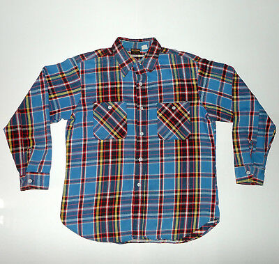 Vintage 1970's Big Yank Flannel Button Work Shirt - FLAWS PLEASE READ