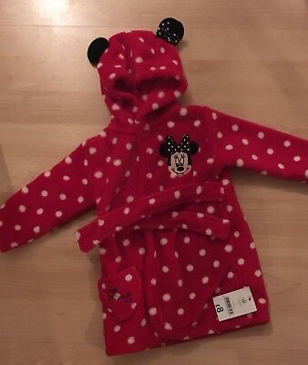 BNWT 6-9 Girls Minnie Mouse Dressing Gown