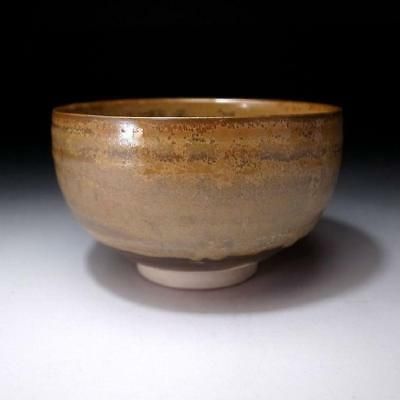 ZH9: Vintage Japanese Pottery Tea Bowl of Shodai Ware