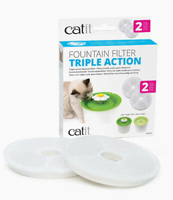 Catit TRIPLE ACTION Filters for Catit Drinking Fountains - Triple Action, 2 PACK