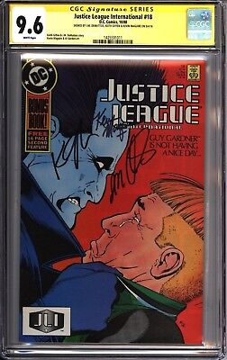 * JUSTICE LEAGUE #18 & #19 (1987) CGC 9.6 & 9.8 SS 3x Signed LOBO! (1425591010)