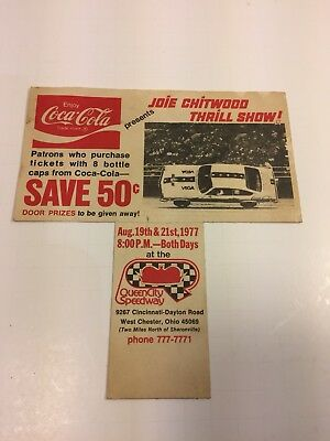 Vintage Coca Cola Race Thrill Show Advertising Coupon 1977