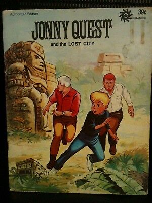 1972 Jonny Quest and the Lost City Book Durabook Authorized Ed. Hanna-Barbera HC