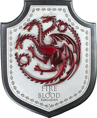 "GAME OF THRONES - 12"" Targaryen House Crest Plaque (Noble Collection) #NEW"