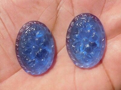 62.7 Cts A++ Stunning Flower Chalcedony Carving Mix Cab Gemstone
