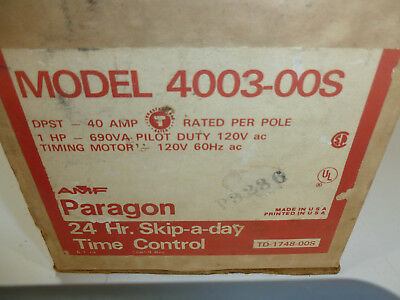 PARAGON 4003-00S TIMER SWITCH NEW  24 Hour Skip a day Clock Timer