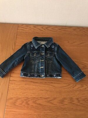 Monsoon baby girl denim jeans jacket 12-18 months great condition lovely