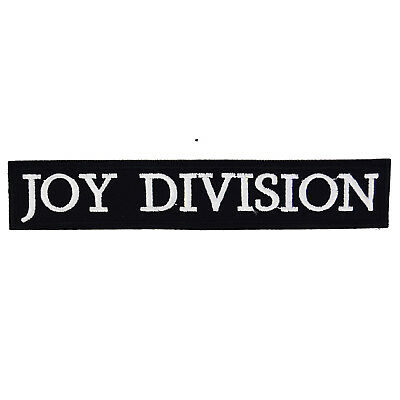Joy Division Iron On Patch Badge Embroidered Post Punk Music Ian Curtis Hook