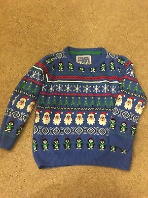 Marks And Spencer Boys Christmas Jumper 5-6 Years Great Condition. Super cute