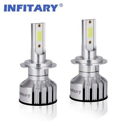 2 Pcs H7 72W Auto Car LED Headlight Kit High-Low Beam Bulbs 8000LM 6500K White