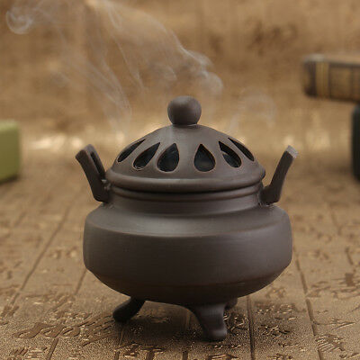 Vintage Ceramic Buddhist Sandalwood Charcoal Incense Smoke Burner Statue Holder