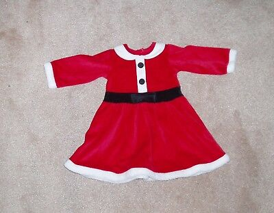 Mrs Christmas dress girls clothes outfit new size 0-3 months Kids childrens