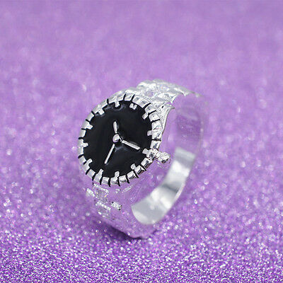 CO_ Creative Women Cute Pocket Finger Ring Round Case Watch Party Jewelry Calm