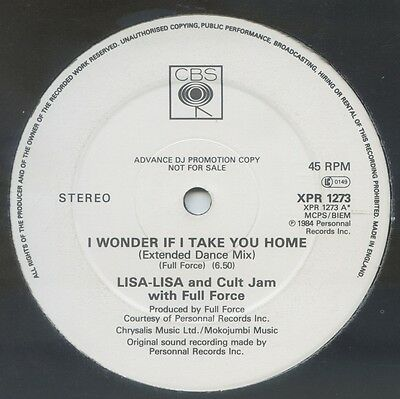 LISA LISA AND CULT JAM WITH FULL FORCE - I Wonder If I Take You Home UK 12""