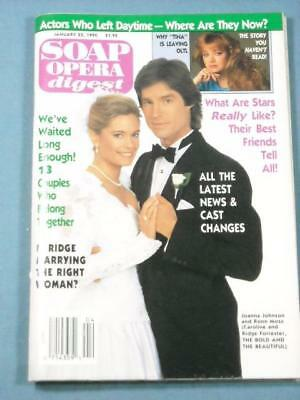 JAN  23, 1990 Soap Opera Digest Magazine Latest News & Cast Changes, No  Label