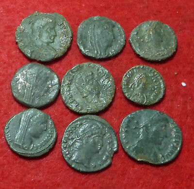 Group of 9 Ae Roman Coins