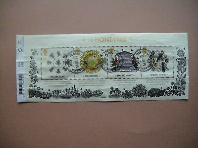Great Britain 2014. The Honeybee. Mini-sheet used.